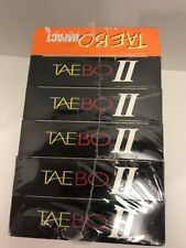 TAE BO II GET RIPPED Six (6) VHS Tapes Workout Kickboxing Martial Arts NEW