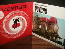 Lot: 2 HITCHCOCK Herrmann soundtrack LPs - SEALED re-issue vinyl VERTIGO PSYCHO