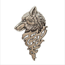 NEW Retro Europe Wolf Badge Brooch Lapel Pin Men Women Shirt Suit Accessory A3