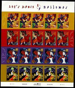 LETS DANCE US 2005 SCOTT 3939-3942 SET OF 4 LATINO DANCES 37c MVF 20 STAMP SHEET