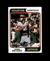 Roger Metzger Hand Signed 1974 Topps Houston Astros Autograph