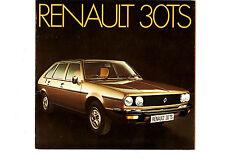 1975-1976 RENAULT 30 TS 2.7 V6 - UK COLOUR SALES BROCHURE