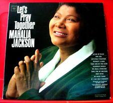 Mahalia Jackson Let's Pray Together LP MONO US ORIG 1963 Columbia Gospel VINYL