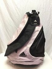 NWT Adidas Large Padded Back Sling Bag Shoulder Bag Pink Black