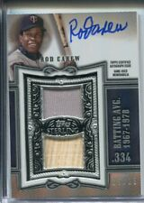 2020 Topps Sterling Rod Carew Game-Used Patch Autograph /25 Jersey Auto