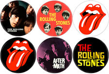 Rolling Stones - Lot of 6 badges (pins, buttons, spille, Bowie, Led Zeppelin)