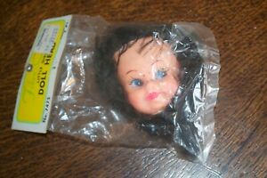 Vintage Fibre-Craft USA Little Girl Doll Head 1970's Crafts Doll Making Item NEW