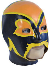 Adult Latex Overhead Wrestling Mask Fancy Dress Power Superhero Halloween