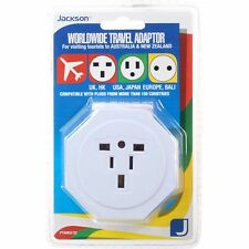 BRAND NEW JACKSON WORLDWIDE TRAVEL ADAPTOR AU PLUG TO EUROPE US UK ASIA FASTPOST
