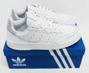 NIB ADIDAS Women's Supercourt White Leather Sz 7 Low Top Sneakers Tennis Shoes
