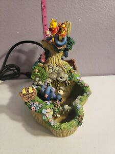 Rare 2000 Disney Direct Winnie The Pooh Water Fountain Table Top Eeyore Tigger