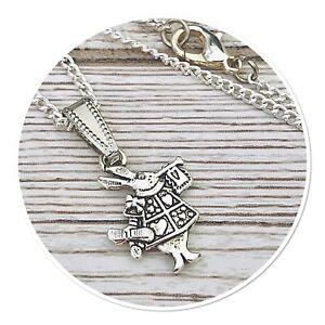 *Alice in Wonderland* mini WHITE RABBIT necklace