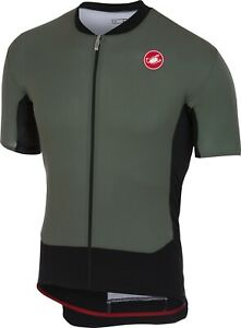 Castelli RS Superleggera Men's Cycling Jersey : SEE Video : Forest Grey Large