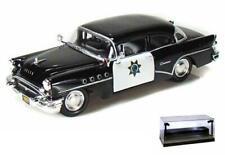 DIECAST CAR W/LED CASE 1955 BUICK CENTURY CALIFORNIA HIGHWAY PATROL CAR 1/24