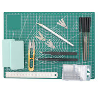 Gundam Model Making Tools Modeller Kit Hobby Craft Knife Blades Cutting Mat Set