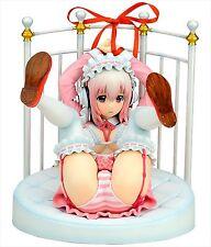 Gift Nitro Super Sonic Super Sonico Lolita Maid Ver. w/ Bed Base 1/6 PVC Figure