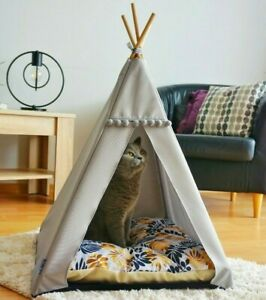 Cat teepee - Golden leaves, cat tent including pillow, luxury cat house,dog tent