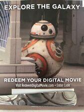 Star Wars Viii 8 The Last Jedi Digital HD Copy Canada iTunes Digital HD Code
