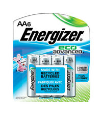 NEW! ENERGIZER Eco Advanced AA Alkaline Batteries 1.5 Volts 6-Pack XR91BP-6