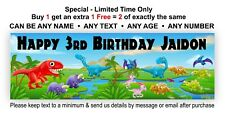 Birthday Party Banner Hanging Sign Dinosaurs Jurassic Park, Personalised Poster