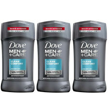 3 Pack Dove Men+Care Clean Comfort Antiperspirant 2.7 Oz Each