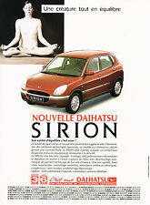PUBLICITE ADVERTISING  1999   DAIHATSU   la nouvelle  SIRION