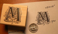 Monogram Letter M  rubber stamp  WM P41