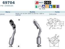 Pot catalytique Lexus IS250 2.5i V6 24V 2500cc 153Kw/208cv 4GRFSE 9/05>8/08, dro