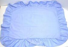 "(1) Ruffled Pillow Sham ~ Medium Blue ~ Standard 20 x 26 w/ 5"" Ruffle **NEW**"