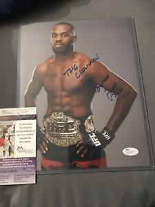 UFC JON BONES JONES SIGNED AUTOGRAPHED  PHOTO COA MMA CHAMPION JSA CERT