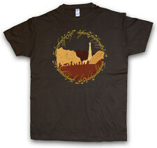 RING FELLOWSHIP T-SHIRT - Lord of Gefährten Herr the der Rings Ringe Frodo Sauro