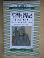 Storia della letteratura italiana 3 Ottocento NovecentoManacorda newton sapere