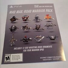 (DLC ADD-ON ONLY) Mad Max ROAD WARRIOR PACK (PS4) #2089