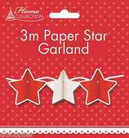 Christmas Garland Hanging Paper Chain Room Decorations Retro Design Star Or Tree