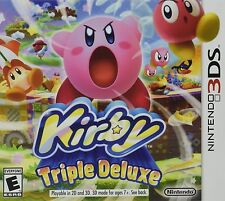 NINTENDO 3DS DS GAME KIRBY TRIPLE DELUXE BRAND NEW & FACTORY SEALED