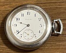 ANTIQUE 1911 ELGIN SIZE 6 POCKET WATCH - RUN
