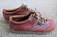 Vtg Sears Roebucks Women's Brown Leather Lace Up Oxford 7.5 D Nib