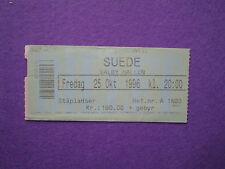SUEDE 25 Oct 1996 Billet De Concert VALBY ALLEN Danemark Entrée De Concierto