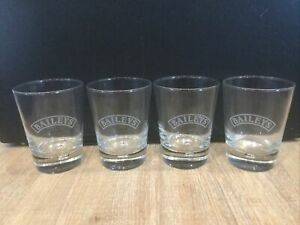 4 Stück Baileys Glas Gläser Shotglas Stamper