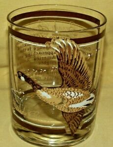 GEORGES BRIARD GLASS CANADA GOOSE CANADIAN GEESE HIGH LOW BALL WHISKEY BARWARE*