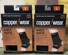 LOT OF 2 Copper Wear Compression Ankle Sleeve, LARGE NEW