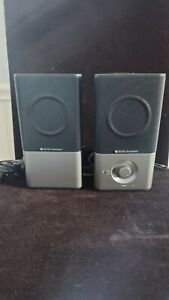 GENUINE Altec Lansing Black Silver 220 Speakers Very Nice Sound and Condition