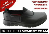 Brand New Skechers Womens Sure Track Slip Resistant Comfort Leather Work Shoes