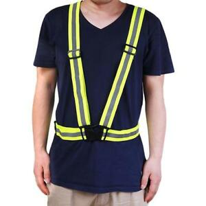 Flashing Reflective Belt Vest Strap Band Safety Night Running Cycling Adjust JJ