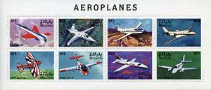 Maldives Aviation Stamps 1998 MNH Aeroplanes Aircraft Cessna Stutz Bearcat 8v MS