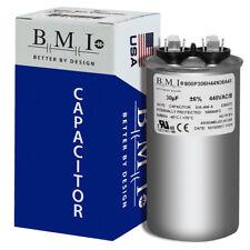 30 MFD x 370 / 440 VAC Round Run Capacitor BMI 800P306H44N36A4X Made in the USA