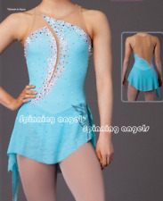 Blue Ice Figure Skating Dresses Custom Adult Competition Skating Wear Girls