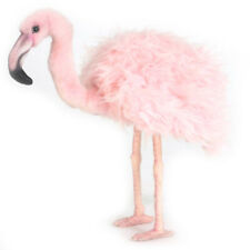 38cm Hansa Pink Flamingo Handmade Plush Soft Cuddly Realistic Stuffed Animal Toy