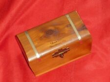 Cedar Chest Jewelry Trinket Box TOM'S COVE Chincoteague Va Souvenir Vintage (C8)