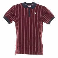 Polo Vintage shirt uomo FILA mod.3920530706 classic M/C 100%Cotone Col. Bordeaux